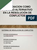Mediacion en La Resolucion de Conflictos