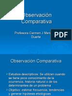 Observación comparativa