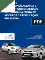 Arrecadação de IPVA e sua Proporcionalidade em Relação à Frota de Veículos e à População Brasileira