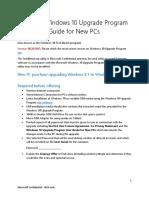Windows 10 Upgrade Program Installation Guide for New PCs