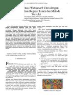 Implementasi Watermark Citra Dengan Menggunakan Regresi Linier Dan Metode Wavelet