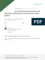 Artigo Dimenstein, M. Los (Des) Caminos de La Formación Profesional Del Psicólogo en Brasil Para La Actuación en La Salud Publica