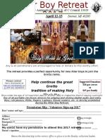 Altar Boy Retreat Flyer