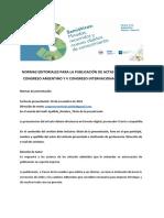 Normas Editoriales Para La Publicacic3b3n de Actas Digitales