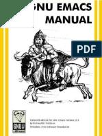GNU Emacs Manual - Richard Stallman