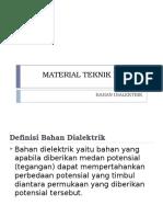 Material Teknik Listrik - Bahan Dialektrik