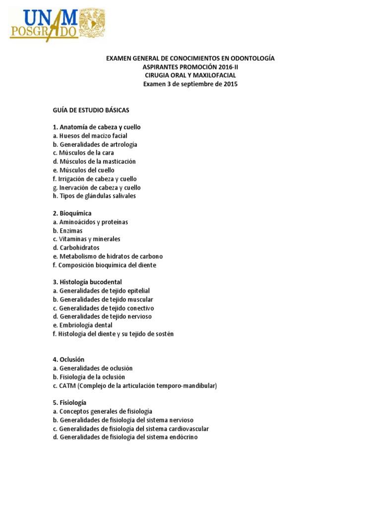 Examen Odonto