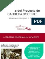 Presentación Carrera Docente. Análisis Propuesta Gobierno