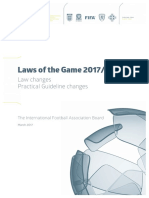 Law Changes - Practical Guideline Changes (Laws of the Game 2017/18)