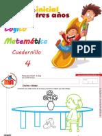 Cuadernillo 4 Logico Matemática 3 Años Completo