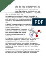 Importancia de Los Bioelementos