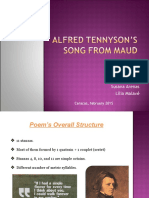 Analysis Of Alfred Lord Tennyson's Song From Maud.ppt