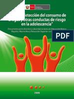 Guia de Deteccion Del Consumo de Drogas y Otras Conductas de Riesgo en La Adolescencia