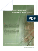 Vite, M.a. Reflexiones Sobre La Politica Social en La CDMX