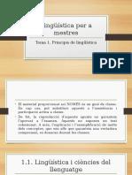 Lingüística. Tema 1