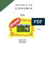 Seminário - Economia - Oferta Do Produtor
