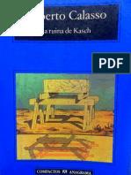 La Ruina de Kash - Roberto Calasso