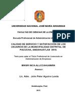 Inca Allcahuaman-Calidad de Servicio y Satisfacion de Los Usuarios