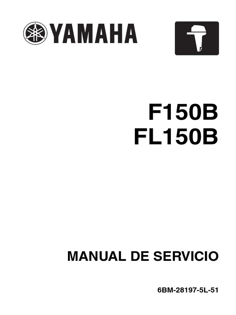 manual Yamaha motor fuera de borda 150 hp 4t