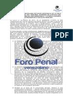 Foro Penal rechaza sentencia del TSJ que limita inmunidad parlamentaria