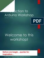 Intro to Arduino Workshop