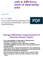 Energy Audit & Efficiency Improvement of Operating Power Plants