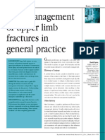 early management of upper limb fractures in general practice