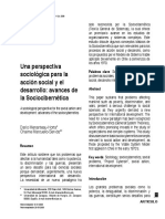 D. Menanteau-Horta - Una Perspectiva Sociológica Para La Acción Social y El Desarrollo, Avances de La Sociocibernética