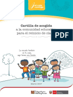 Cartilla de Acogida a La Comunidad Educativa