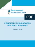 Indicadores Bovinos Mensual Febrero 2017