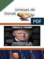 Las Promesas de Donald Trump