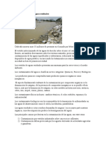 Contaminacion de Aguas Residuales