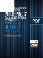 The Role of America's Alliances in the Philippines' Balancing Policy on China