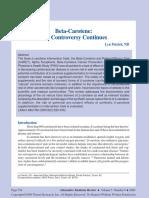 Beta Carotene Controversy.pdf