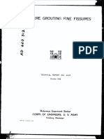 Fissure Grouting
