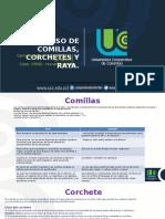 Comillas- Corchetes y Rayas