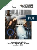 BALANÇO ENERGÉTICO DO ESTADO DE SÃO PAULO 2009 Ano-Base