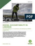 Social Accountability in Lebanon
