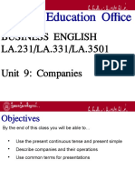 Business English - Companies