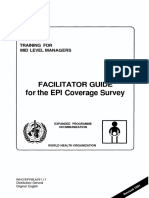Facilitator Guide EPI Coverage Survey