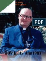 Jorge Novak, Homilías 1983