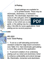 4.4.4  Gold Plating