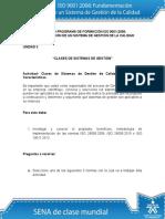 Taller Unidad 2 Clases de Sistemas de Gestion