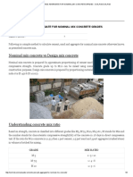 Cement Sand and Aggregate for Nominal Mix Concrete Grades - Civil Rndcivil Rnd