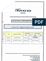QA IMCO HSE P QT 012 Rigging and Lifting Procedure