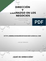 DIRECCIÓN Y LIDERAZGO  ESTRATEGICO EN LOS NEGOCIOS.pptx