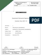 EME Course Plan 2014-15 Odd A