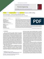 Profile Error Compensation in High Precision 3D Micro-EDM Milling 2013