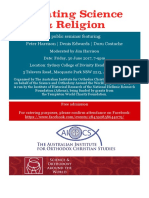 Relating Science and Religion Flyer