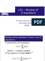 L01 – Review of Z Transform